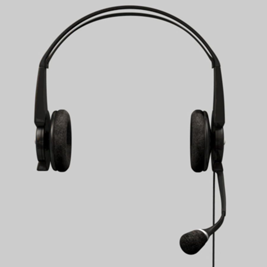 Headset / Earphones royalty-free 3d model - Preview no. 2