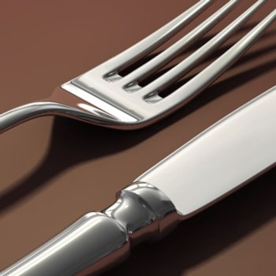 cutlery Hi royalty-free 3d model - Preview no. 6
