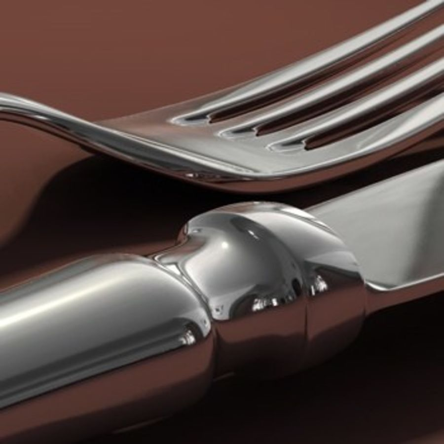 cutlery Hi royalty-free 3d model - Preview no. 5