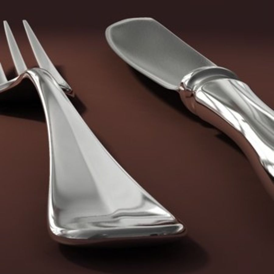 cutlery Hi royalty-free 3d model - Preview no. 4