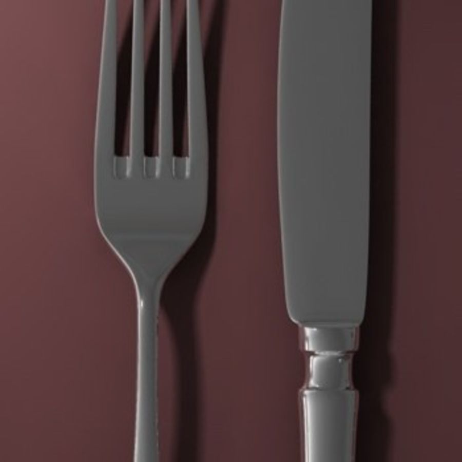 cutlery Hi royalty-free 3d model - Preview no. 3