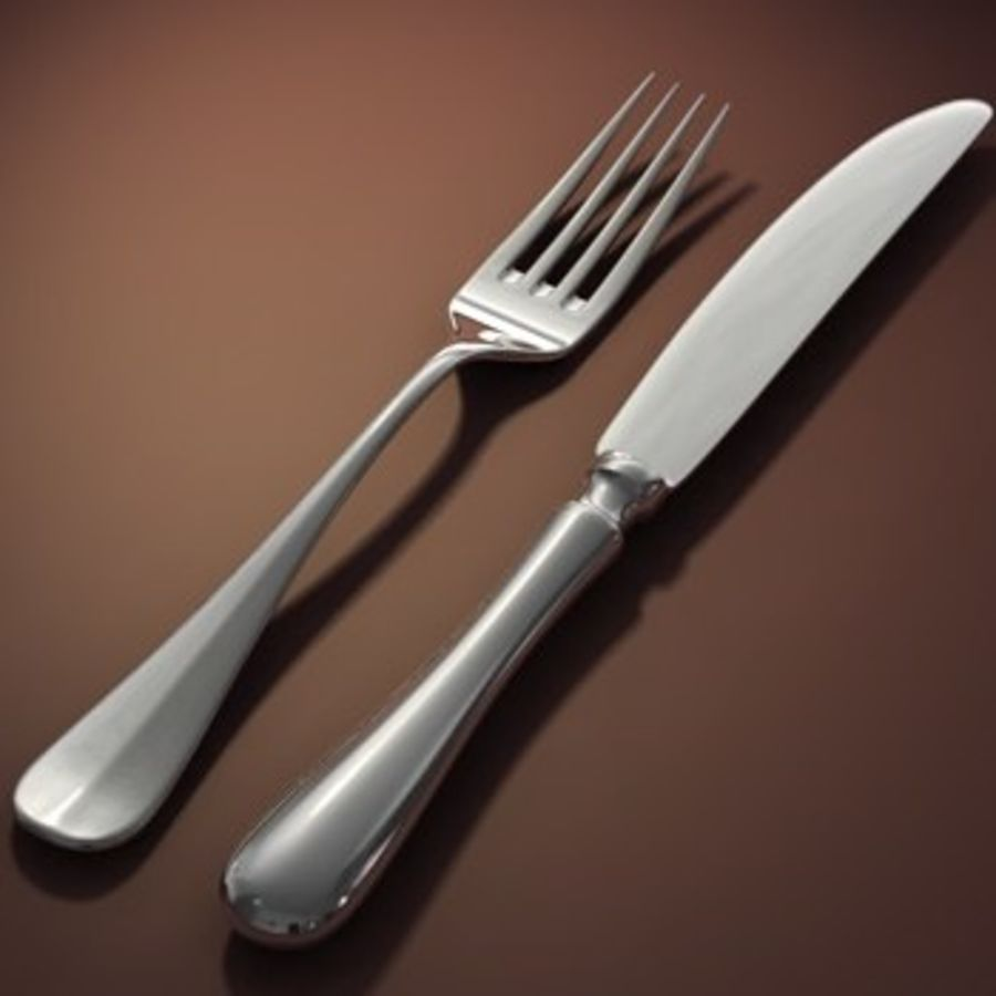cutlery Hi royalty-free 3d model - Preview no. 1