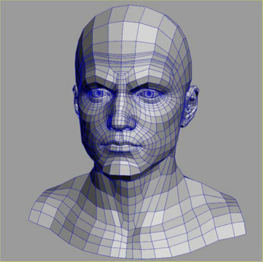 Male Head 3d Model(1) royalty-free 3d model - Preview no. 6