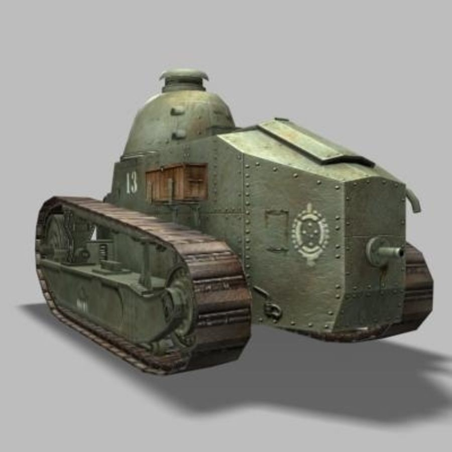renault_FT_17 royalty-free 3d model - Preview no. 3