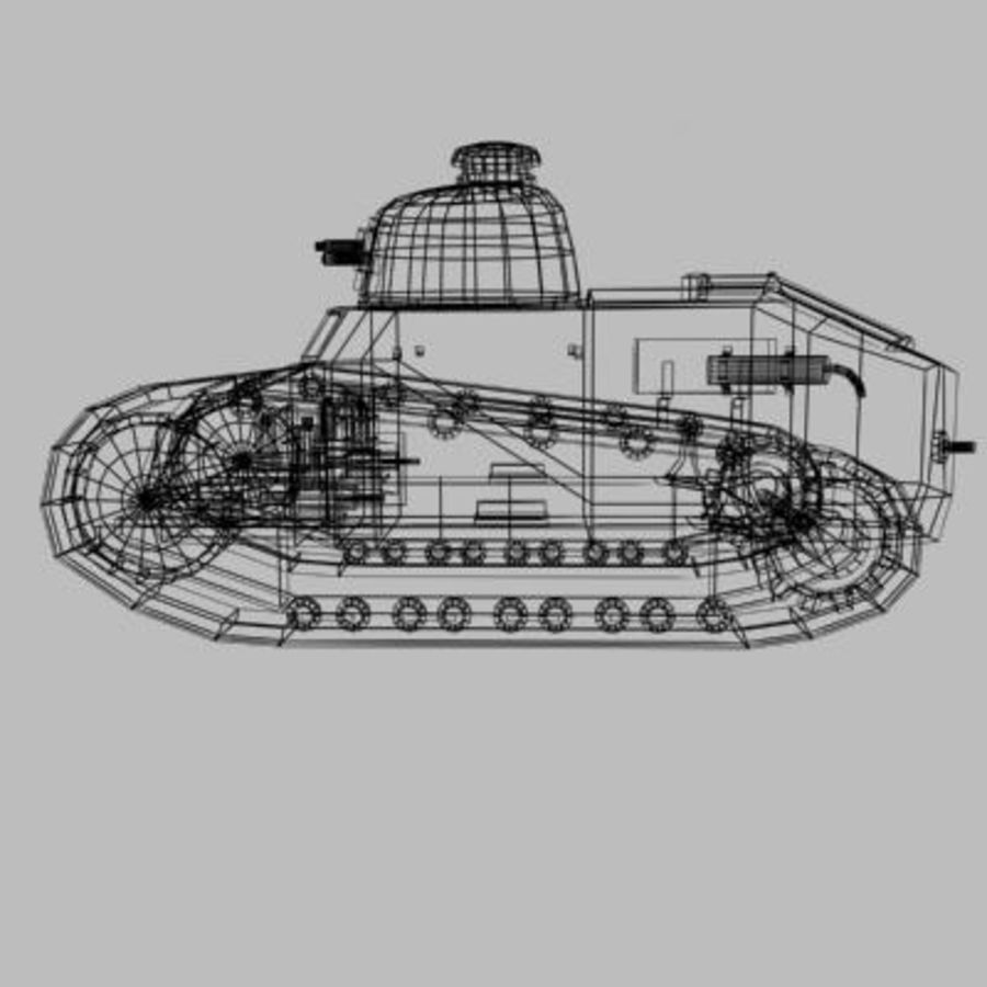 renault_FT_17 royalty-free 3d model - Preview no. 9