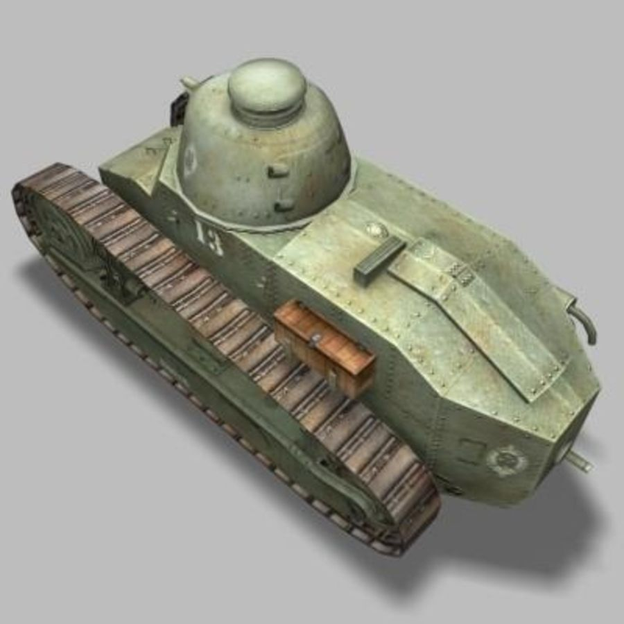 renault_FT_17 royalty-free 3d model - Preview no. 4