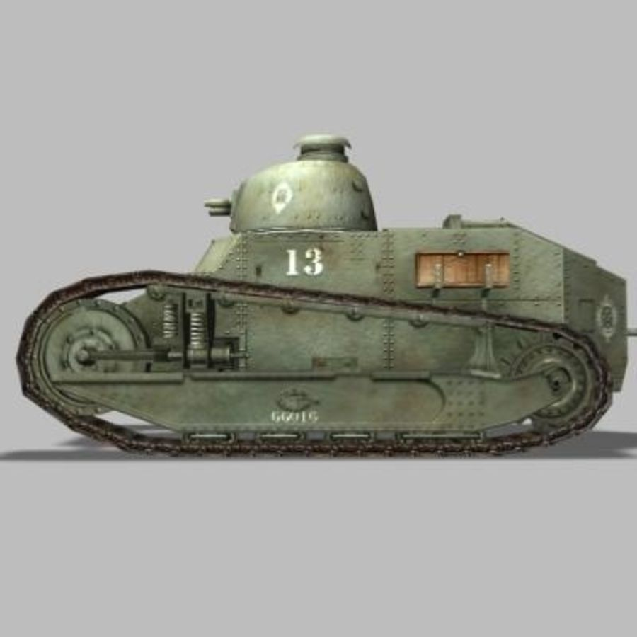 renault_FT_17 royalty-free 3d model - Preview no. 2