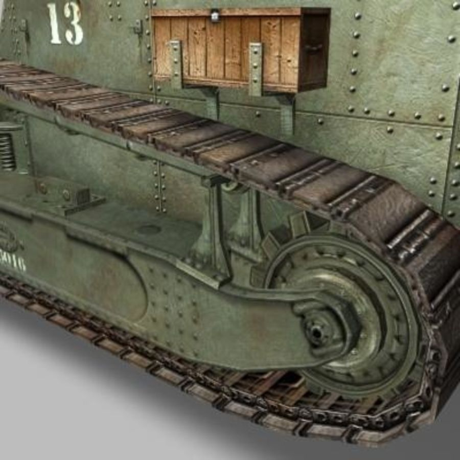 renault_FT_17 royalty-free 3d model - Preview no. 7