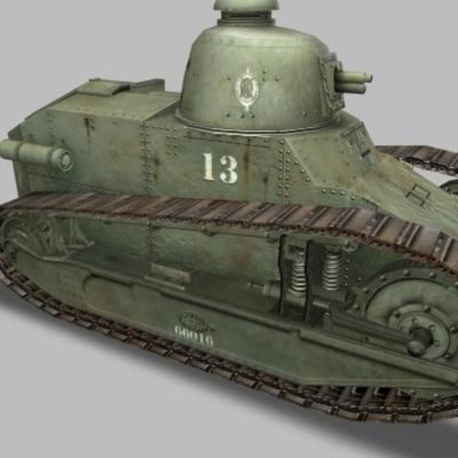 renault_FT_17.zip royalty-free 3d model - Preview no. 8