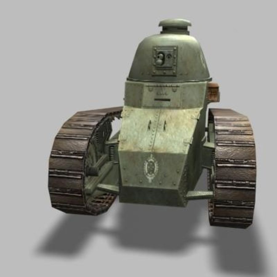 renault_FT_17 royalty-free 3d model - Preview no. 5