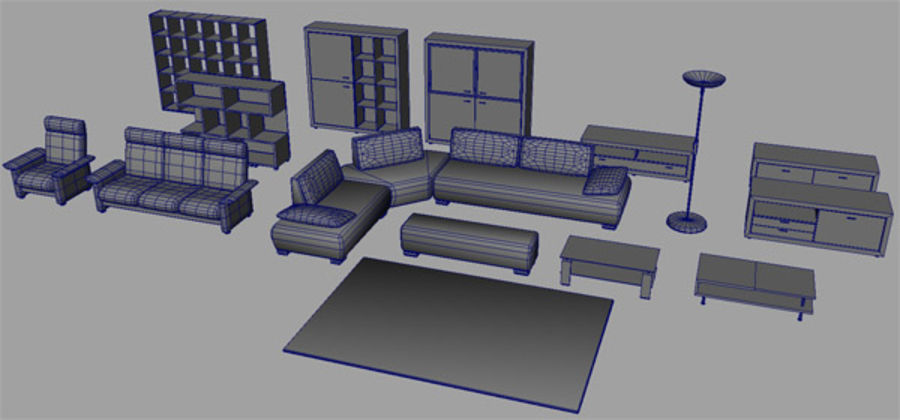 furniture royalty-free 3d model - Preview no. 8