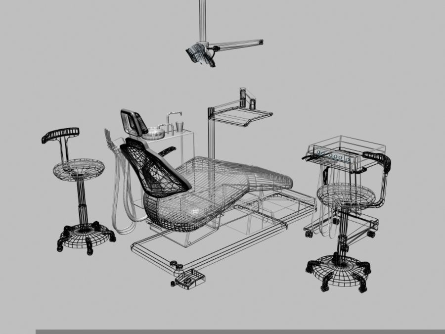 dentist chair royalty-free 3d model - Preview no. 5