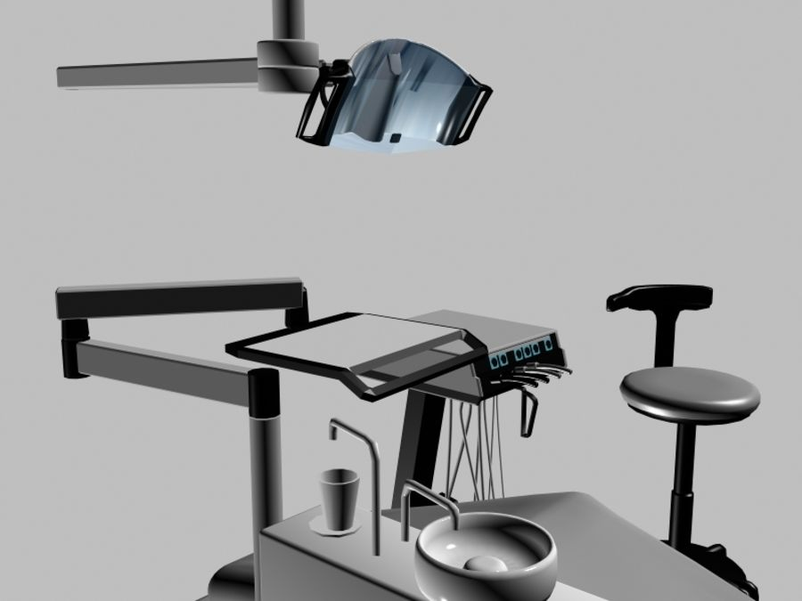 dentist chair royalty-free 3d model - Preview no. 4