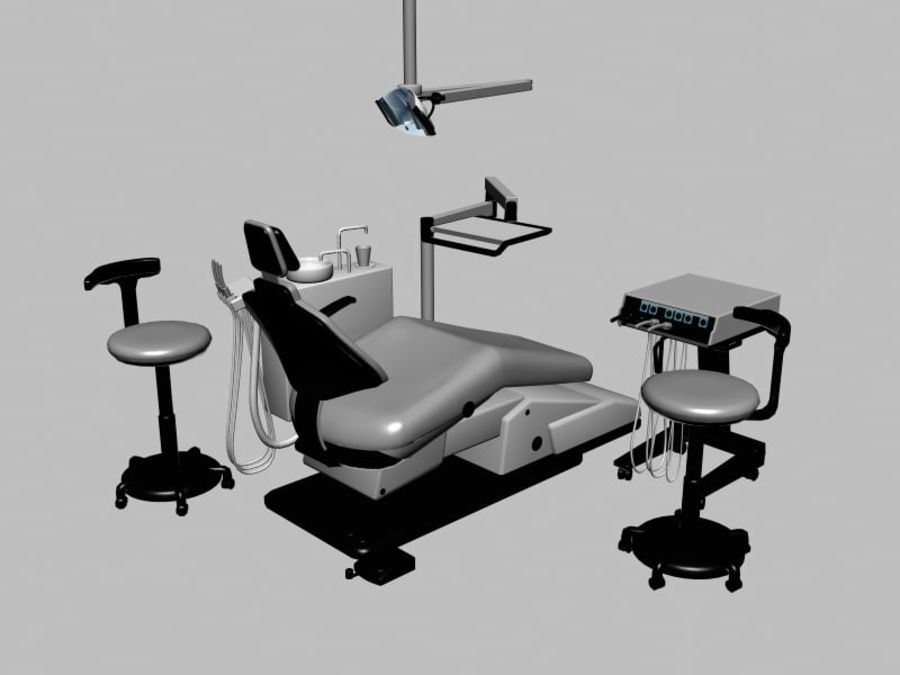 dentist chair royalty-free 3d model - Preview no. 1