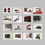 modern furniture set 3d model