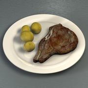 Steak (T-Bone) 3d model