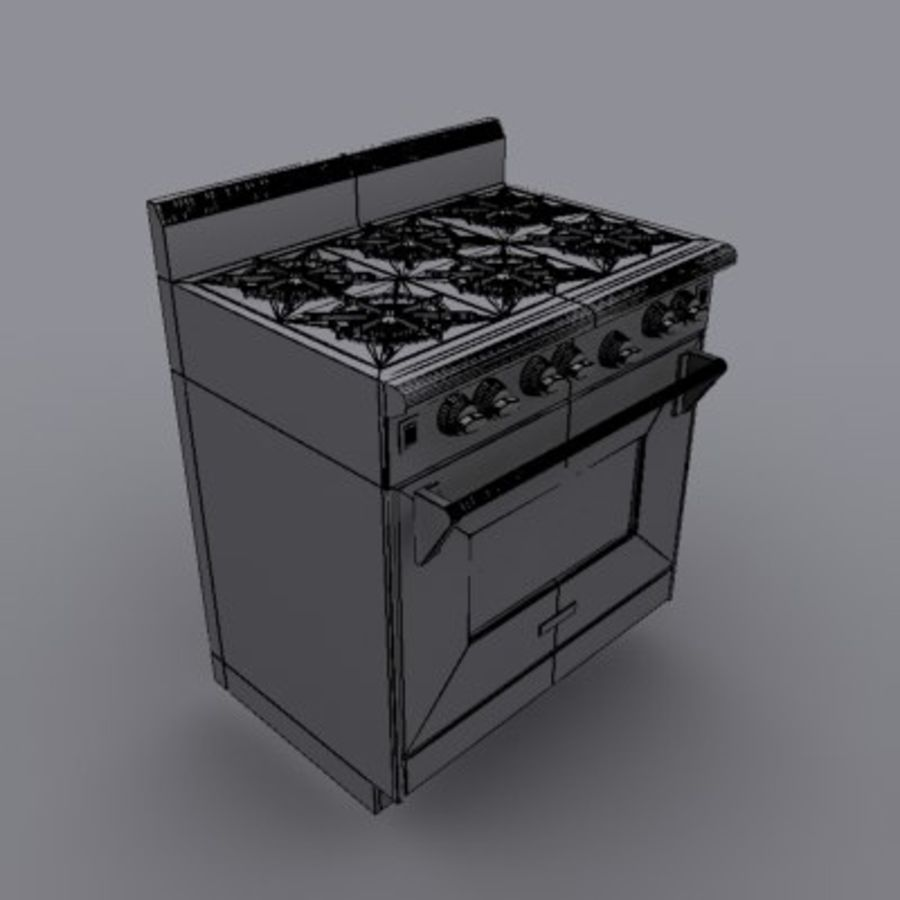 Wolf Stove royalty-free 3d model - Preview no. 2