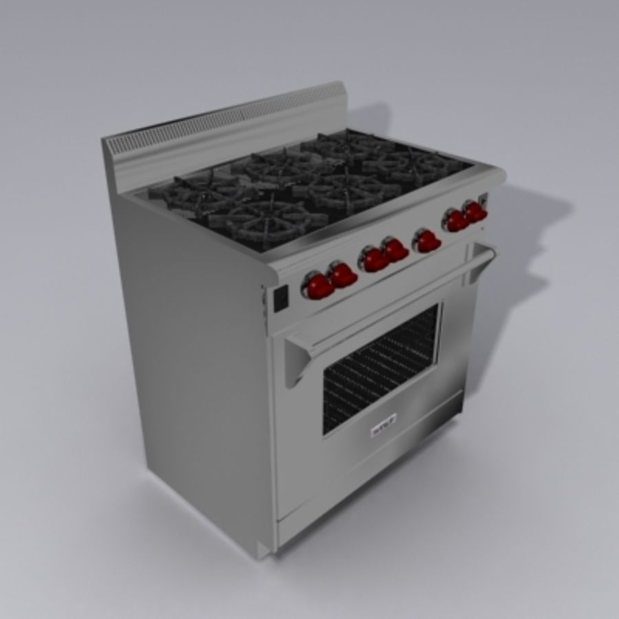 Wolf Stove royalty-free 3d model - Preview no. 1