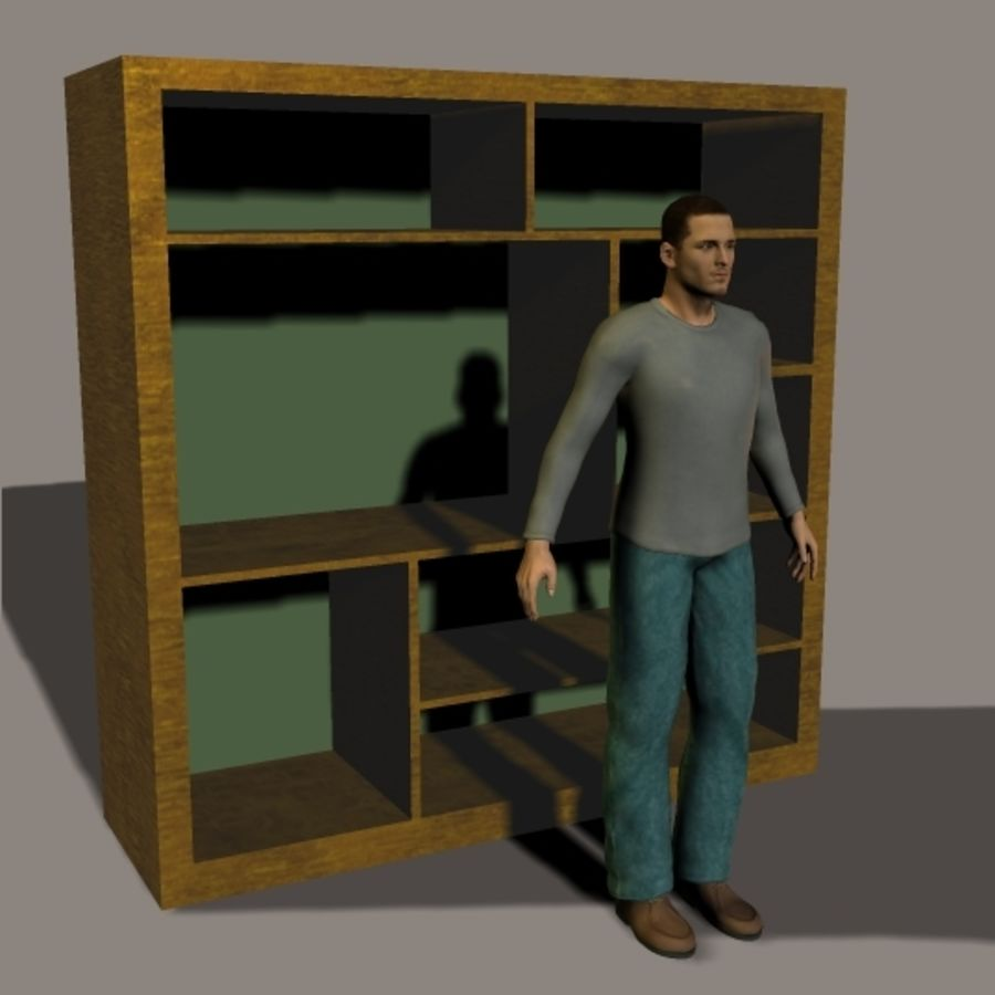 Entertainment Center royalty-free 3d model - Preview no. 1