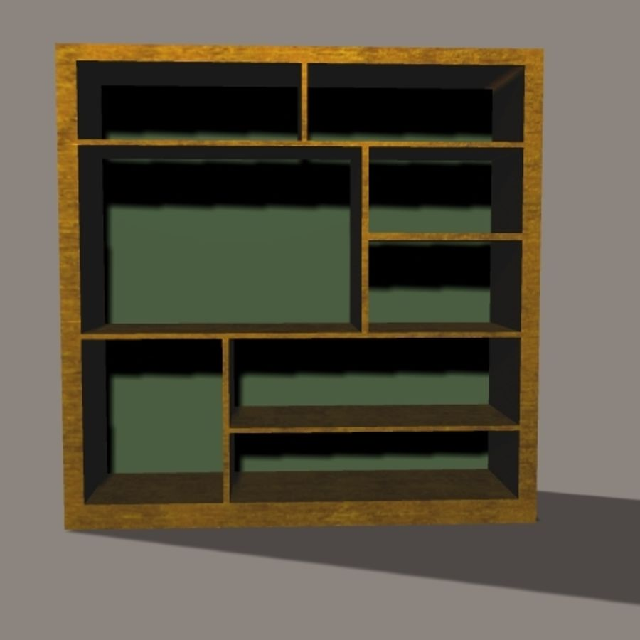 Entertainment Center royalty-free 3d model - Preview no. 2