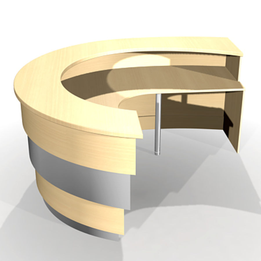 reception desk J royalty-free 3d model - Preview no. 3