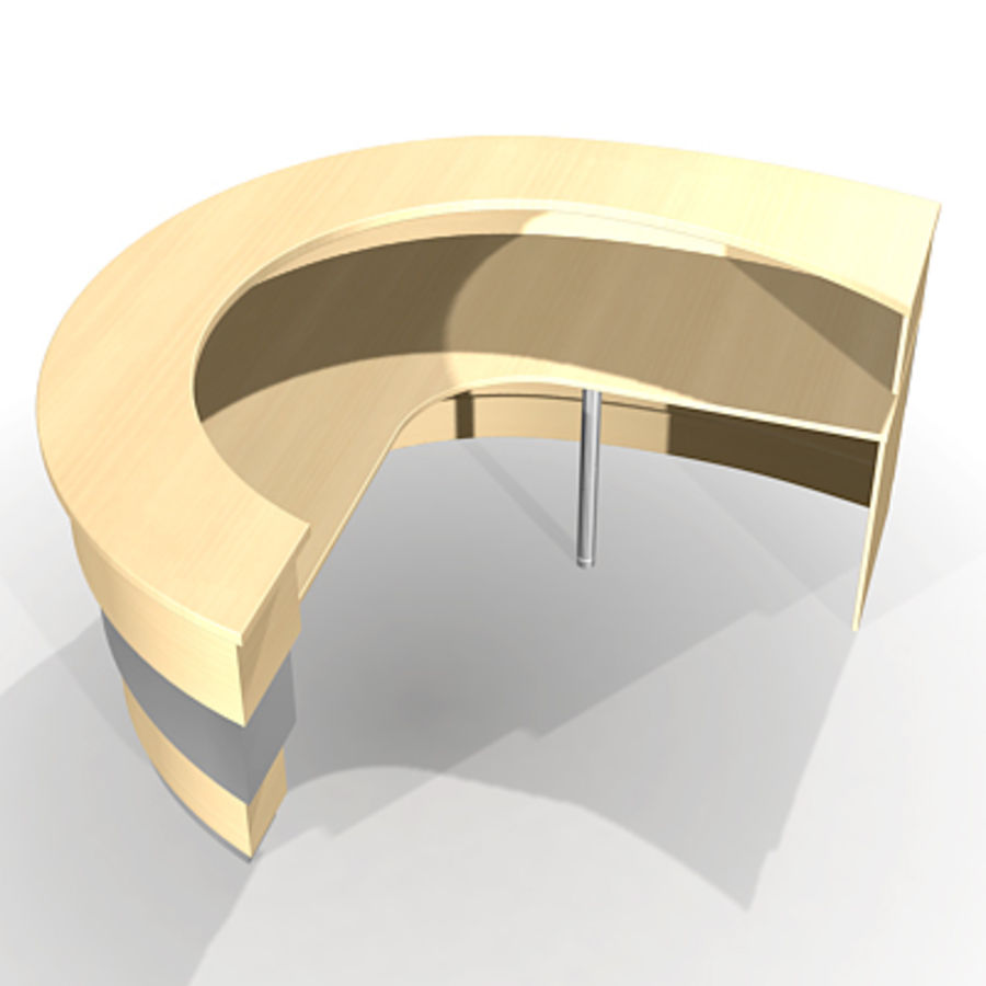 reception desk J royalty-free 3d model - Preview no. 5