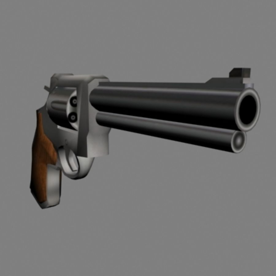 .44马格南左轮手枪 royalty-free 3d model - Preview no. 1