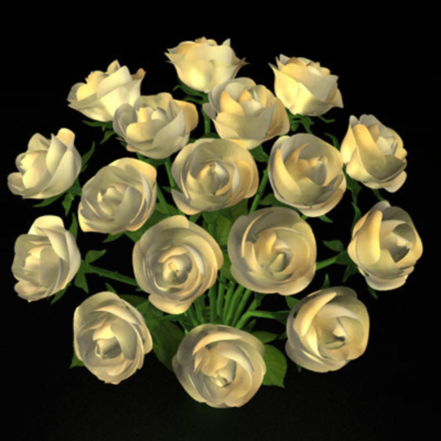 Rose Bouquet royalty-free 3d model - Preview no. 3
