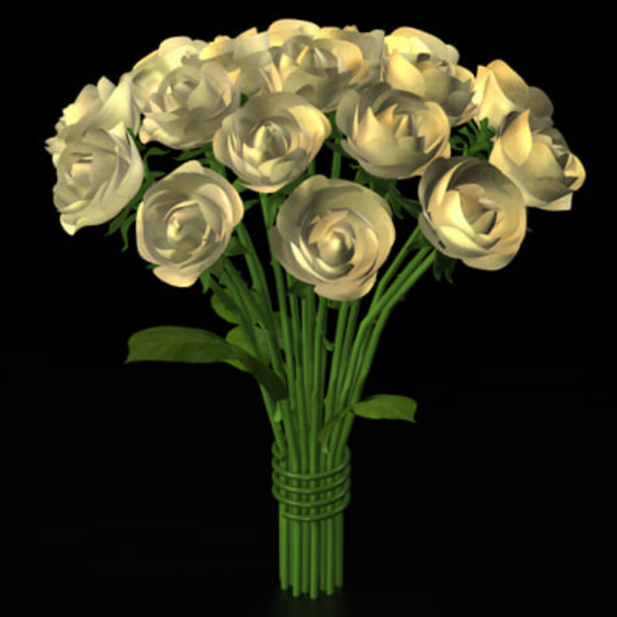 Rose Bouquet royalty-free 3d model - Preview no. 4