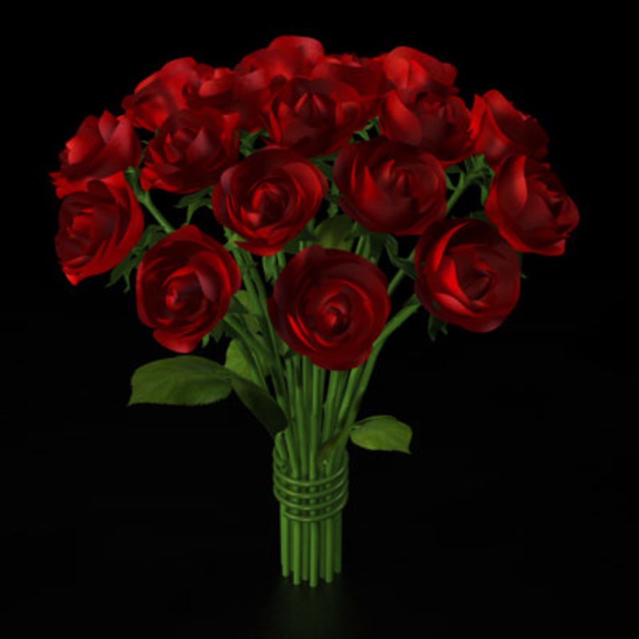 Rose Bouquet royalty-free 3d model - Preview no. 1
