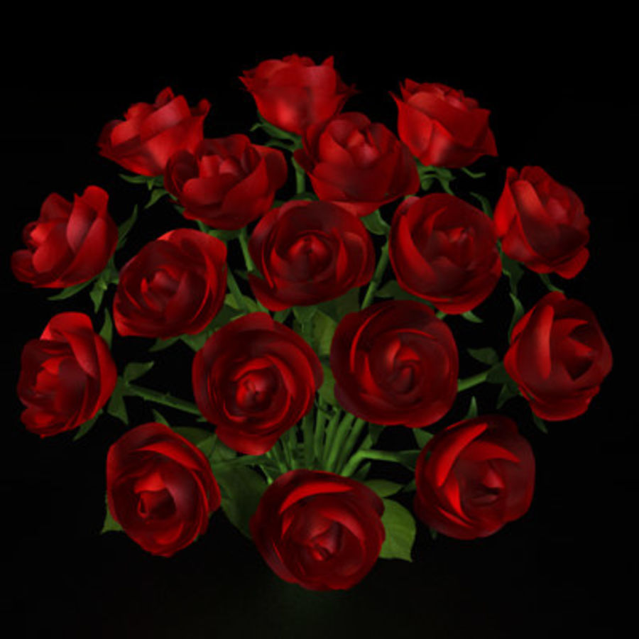 Rose Bouquet royalty-free 3d model - Preview no. 2