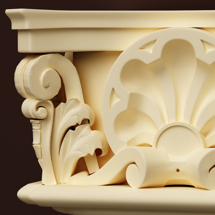 Column Capital royalty-free 3d model - Preview no. 4