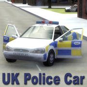UK_Police-Car_Multi 3d model