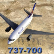 737-700_Continental_Multi.zip 3d model