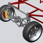 Wheel Suspension 3d model