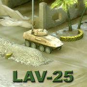 LAV25 USMC AFV 3d model