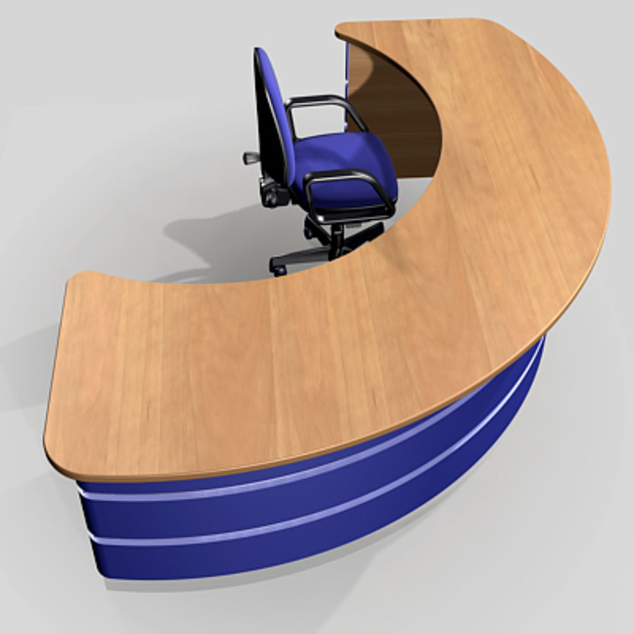 reception desk pls_u royalty-free 3d model - Preview no. 4