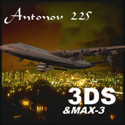 Antonov An 225 3DS Model Russian Giant Aircraft Mriya 3d model