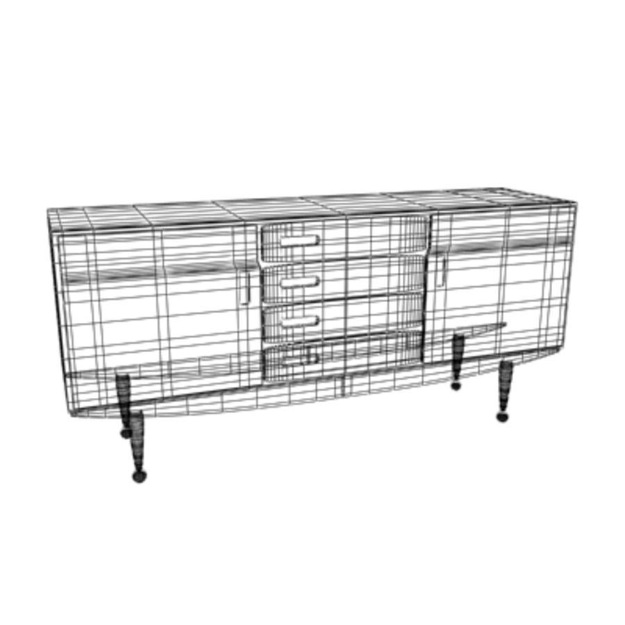 Danish Modern Sideboard royalty-free 3d model - Preview no. 2
