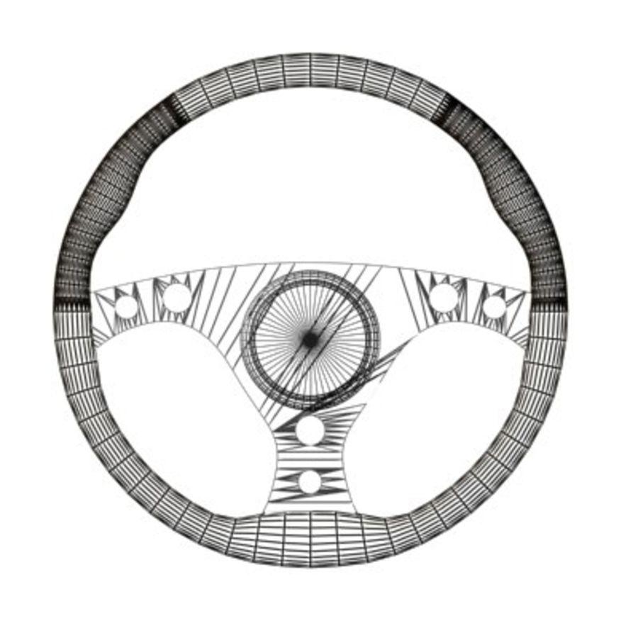 Kierownica wyścigowa - czarna royalty-free 3d model - Preview no. 2