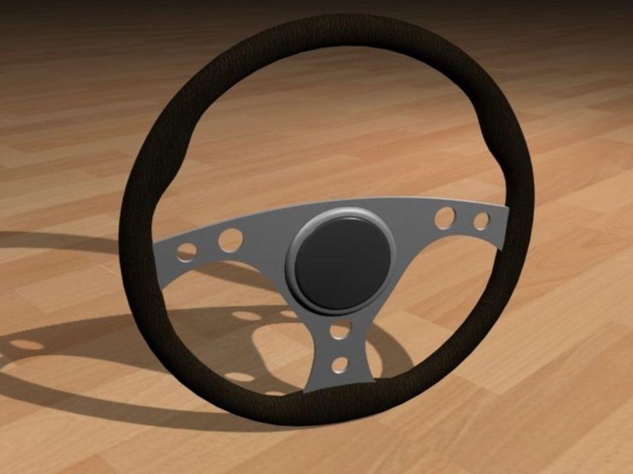 Kierownica wyścigowa - czarna royalty-free 3d model - Preview no. 1