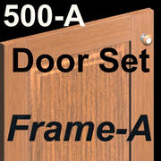 Puertas de gabinete de cocina 500A-SET-Frame-A-Wood modelo 3d