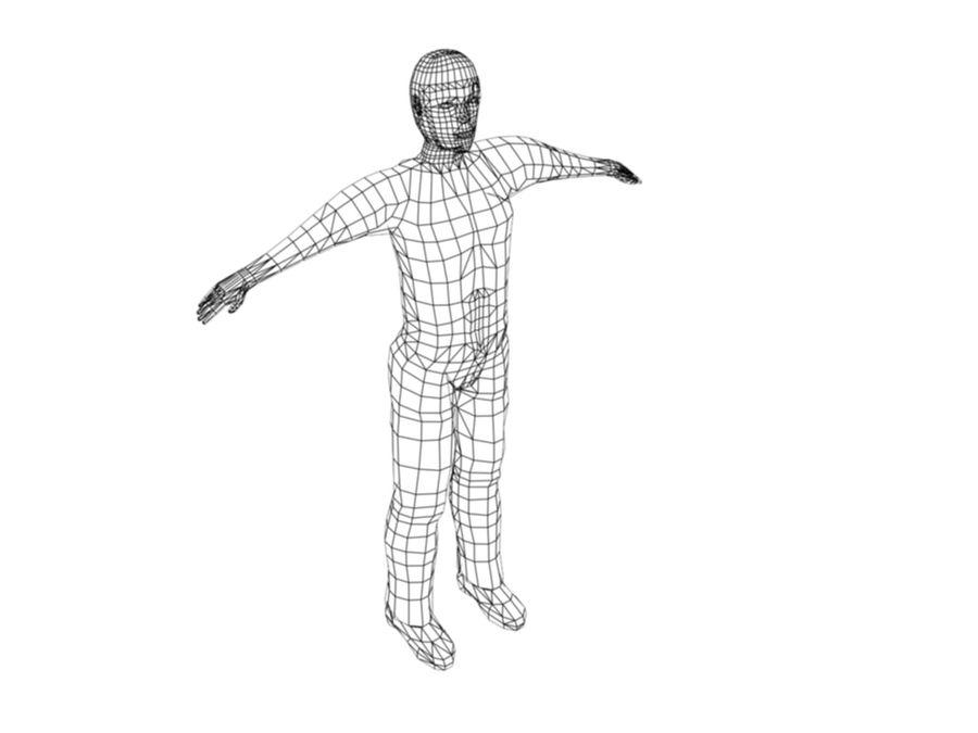 Personaggio maschile royalty-free 3d model - Preview no. 6