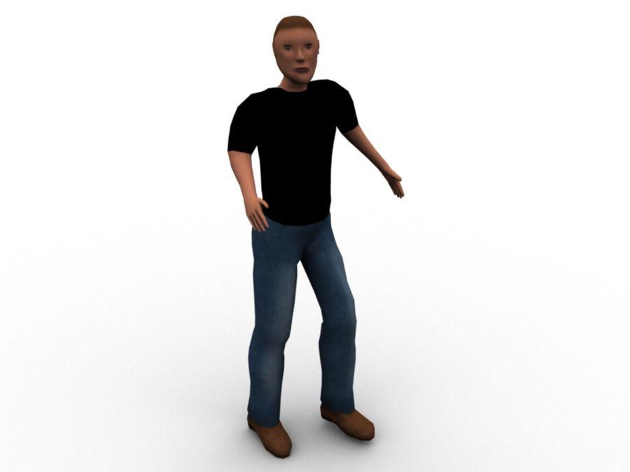 Personaggio maschile royalty-free 3d model - Preview no. 4