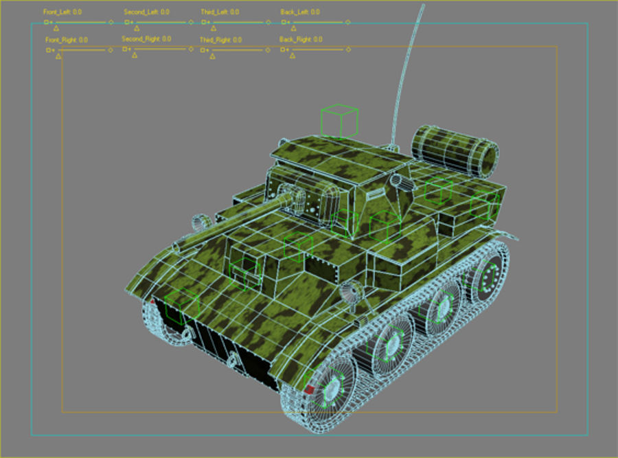 Tank royalty-free 3d model - Preview no. 2