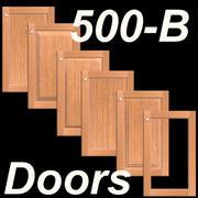 500B-SET-Frame-B-Wood Kitchen Cabinet doors 3d model