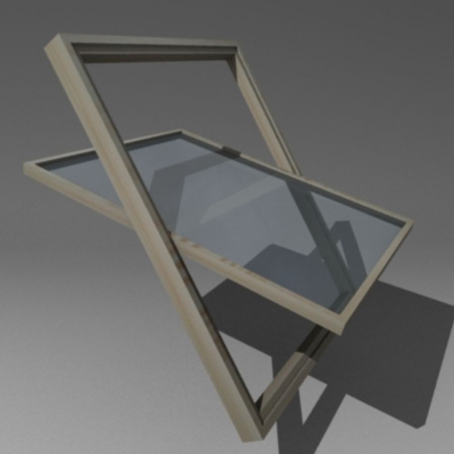 roof windows 3ds royalty-free 3d model - Preview no. 6
