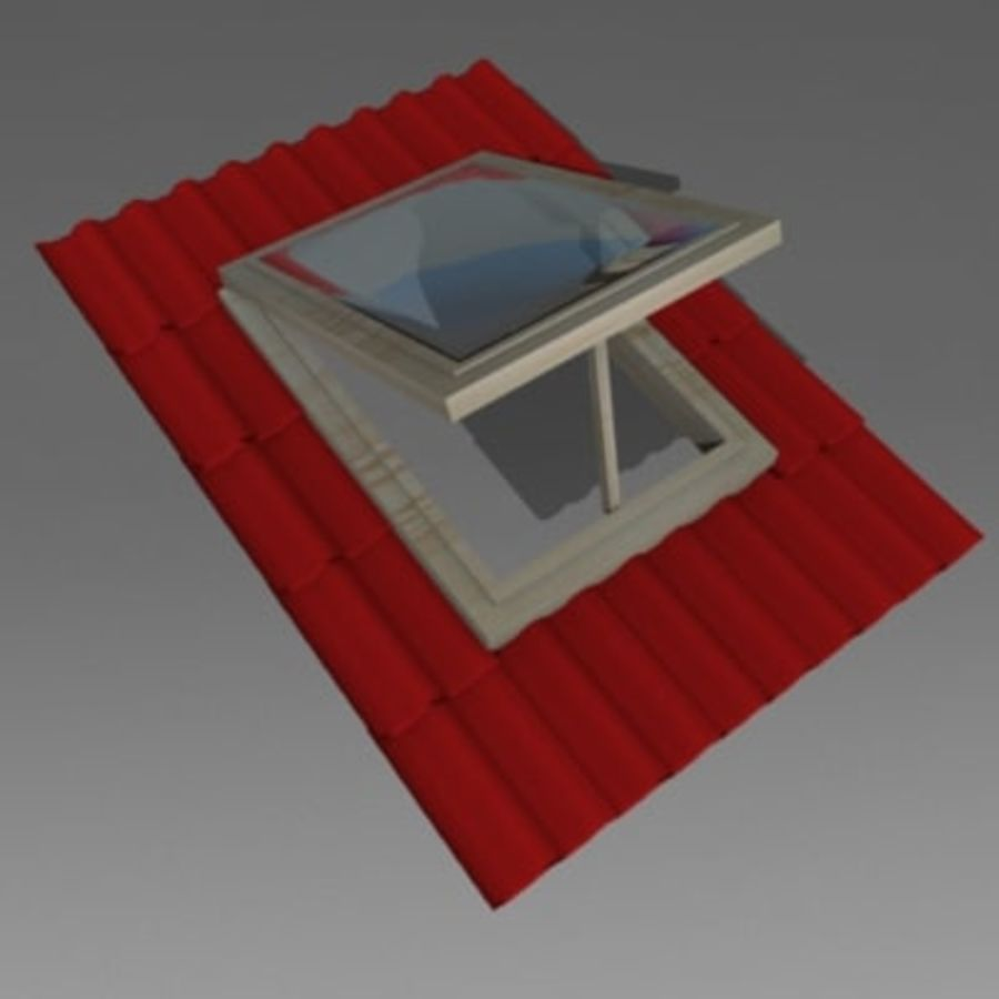 roof windows 3ds royalty-free 3d model - Preview no. 7