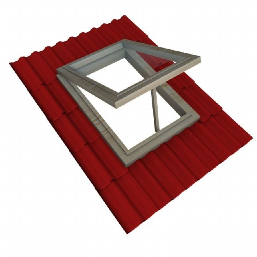 roof windows 3ds royalty-free 3d model - Preview no. 5