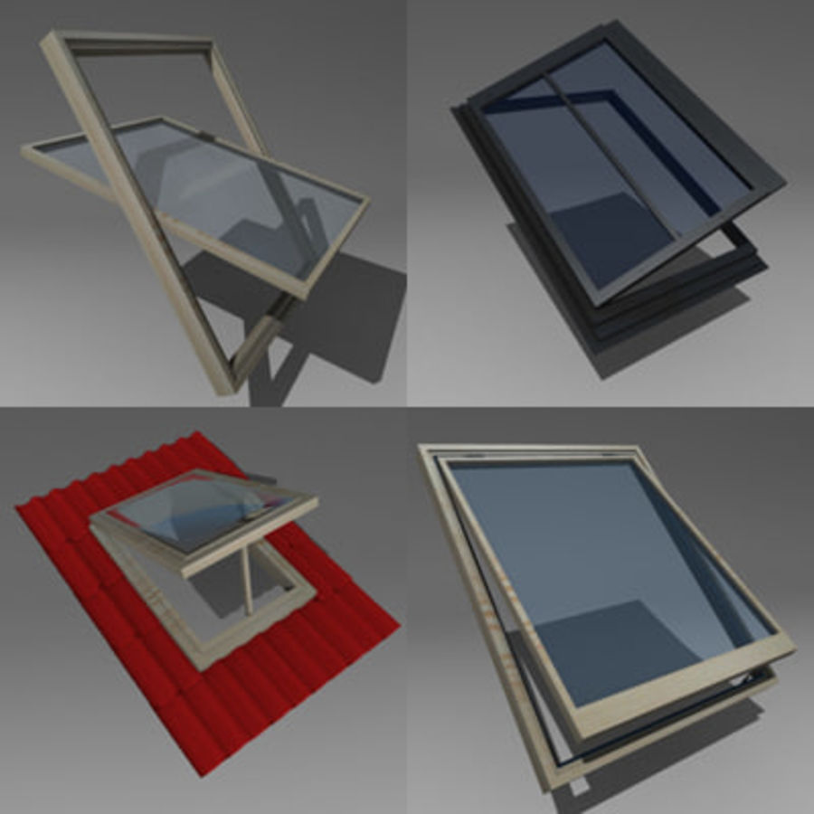 roof windows 3ds royalty-free 3d model - Preview no. 1